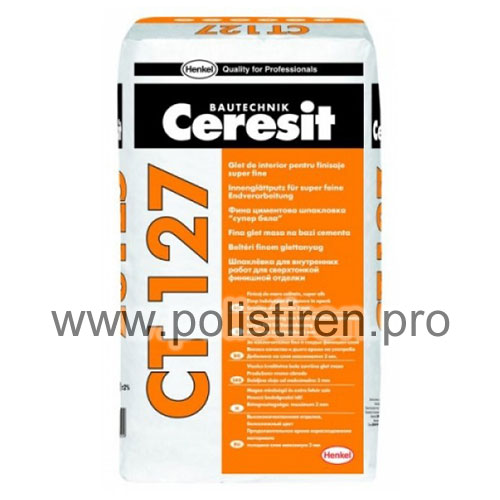 Glet de ciment alb CT 127 CERESIT 20kg